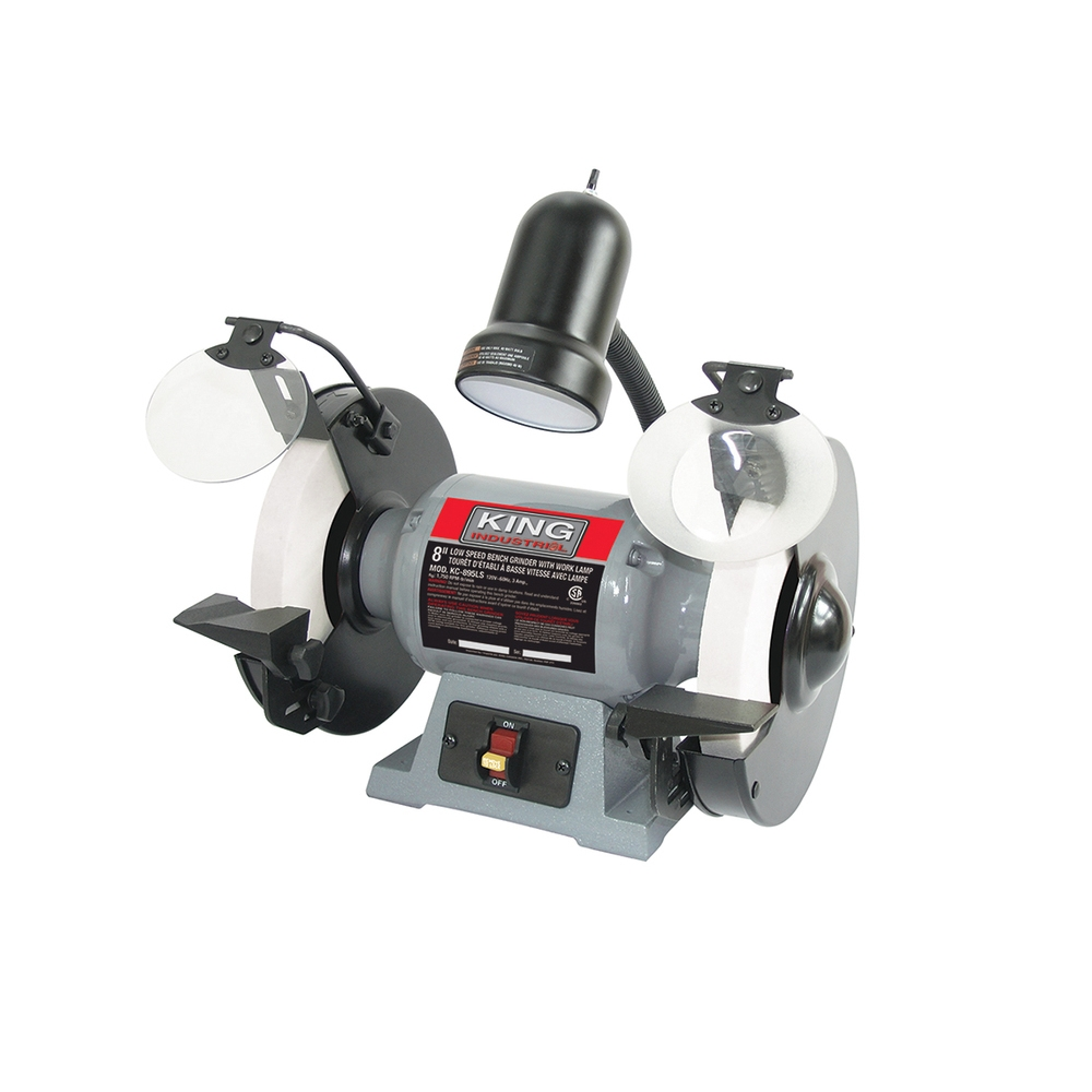 8 Low Speed Bench Grinder With Light King Canada Power