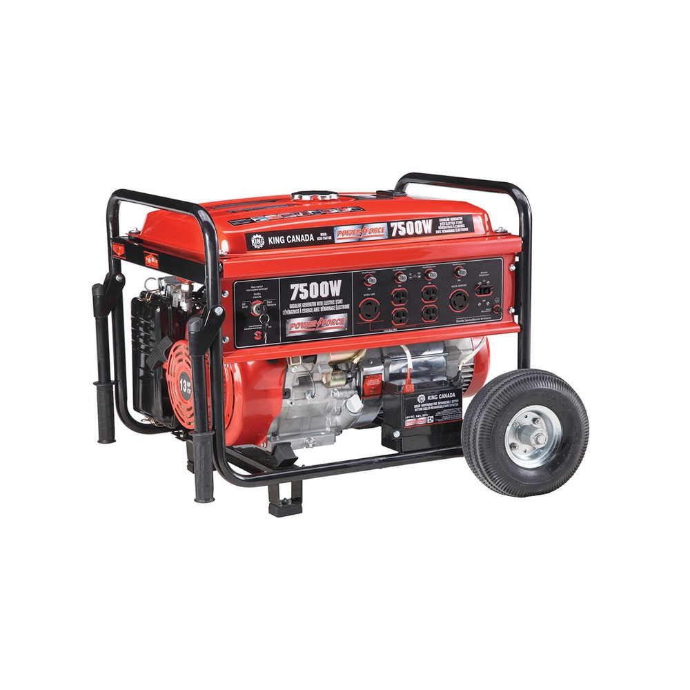 7500 Watts Gasoline Generator With Electronic Start And Wheel Kit King Canada Power Tools Woodworking And Metalworking Machines By King Canada