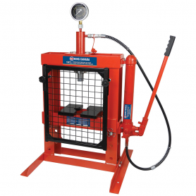 10 TON  HYDRAULIC SHOP PRESS WITH GRID GUARD
