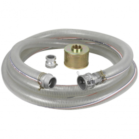 "3"" X 25' PVC SUCTION HOSE KIT FOR WATER PUMP"