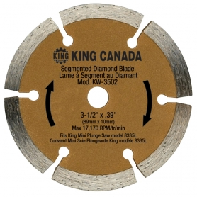 "3-1/2"" SEGMENTED DIAMOND  BLADE"