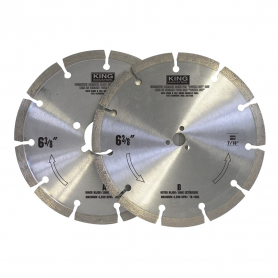 6-3/8'' SEGMENTED DIAMOND STONE BLADE SET