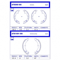 Brake Shoes ATE1001BS