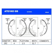 Brake Shoes ATE1003BS