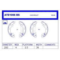 Brake Shoes ATE1006BS