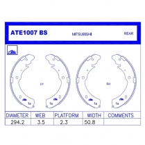 Brake Shoes ATE1007BS