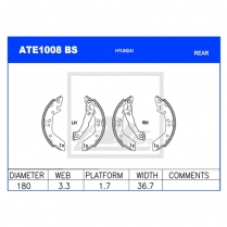 Brake Shoes ATE1008BS