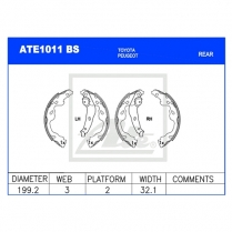 Brake Shoes ATE1011BS