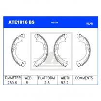 Brake Shoes ATE1016BS