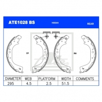 Brake Shoes ATE1028BS