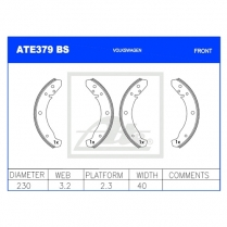 Brake Shoes ATE379BS