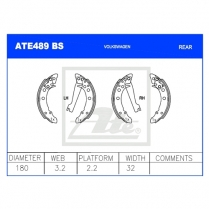 Brake Shoes ATE489BS