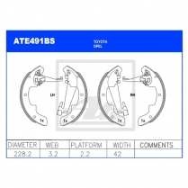 Brake Shoes ATE491BS
