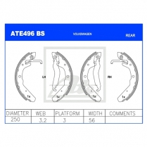 Brake Shoes ATE496BS