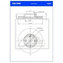 B/Disc DR6281FV/120.1044