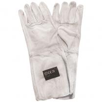 Glove Leather Chrome 20cm Cuff