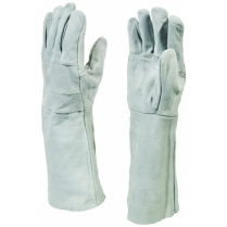 Glove Leather Weldmaster Grey