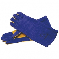 Glove Leather Weldmaster Blue