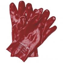 Glove PVC Red M/W S/Cuff