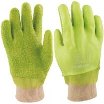 Glove PVC HD R/G Knitwrist