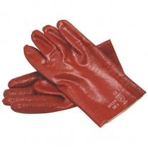 Glove Pvc HD R/G S/Cuff