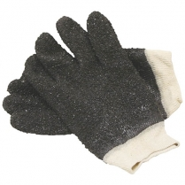 Glove Black Chip PVC Knitwrist