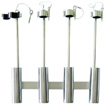 Rod Holder S/S 4 Rod With Arm
