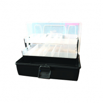 Tackle Box 2 Tray Black/Clear