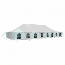 Tent Marquee PVC White 9x18m
