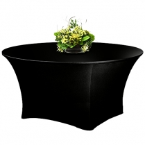 Table Cloth Black Round 180cm