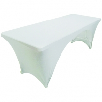 Table Cloth White Rect 183cm