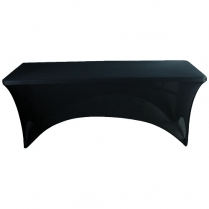 Table Cloth Black Rect 183cm