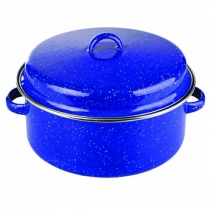 Pot Enamel Blue 10cm