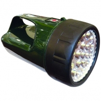 Spotlight Green 19 LED Recharg