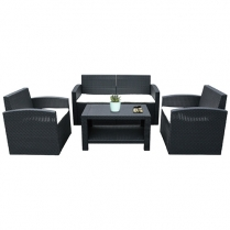 Sofa PE Rattan Set of 4
