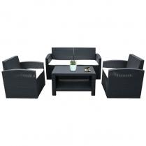 Sofa PE Rattan Set of 4