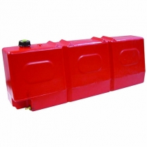 Tank Fuel 50L Slanted Top Red