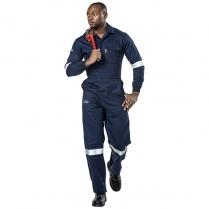 Flame D59 Boiler Suit 1 Piece With Reflective Tape