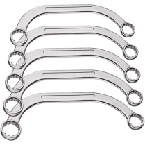 Gedore Red Adjustable Half-Moon Ring Spanners