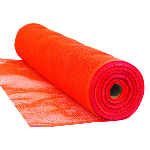 "Debris Netting, FR, 4' x 150', Orange, 1/4"" Mesh"