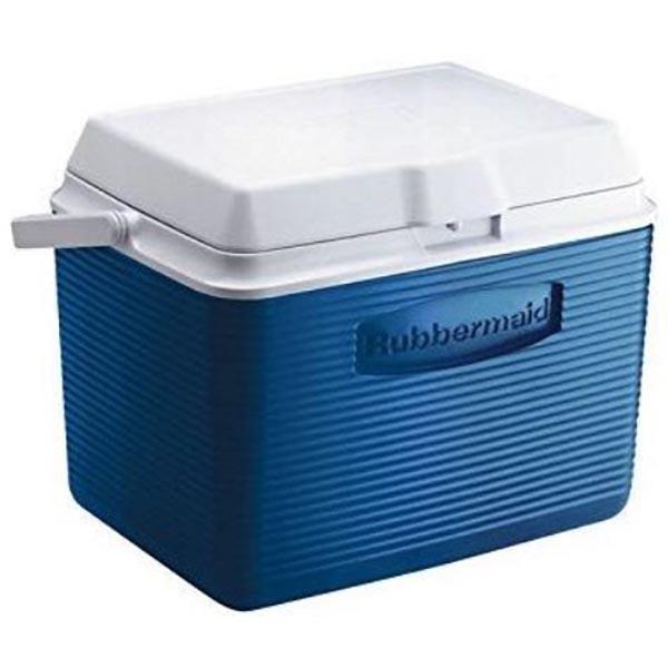 Rubbermaid Ice Chest Cooler, 50 Qt, Blue