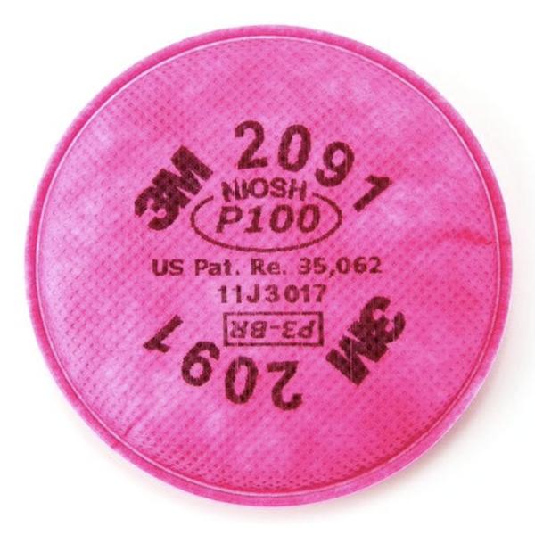 3M 2091 P100, Particulate Filter, 2/Pkg