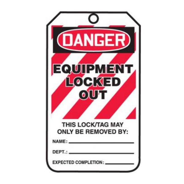 """Barricade Lockout Tag, Red, 3"""" x 5"""""""