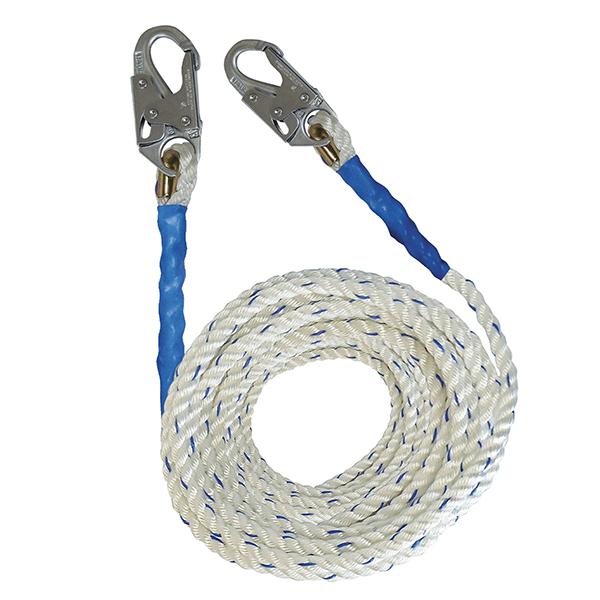 Falltech Vertical Lifeline, 50', Double Locking Hooks