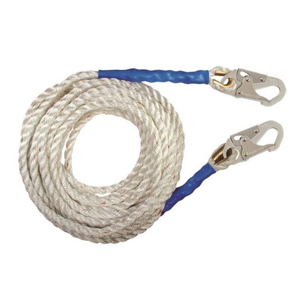 Falltech Vertical Lifeline, 100', Double Locking Hooks