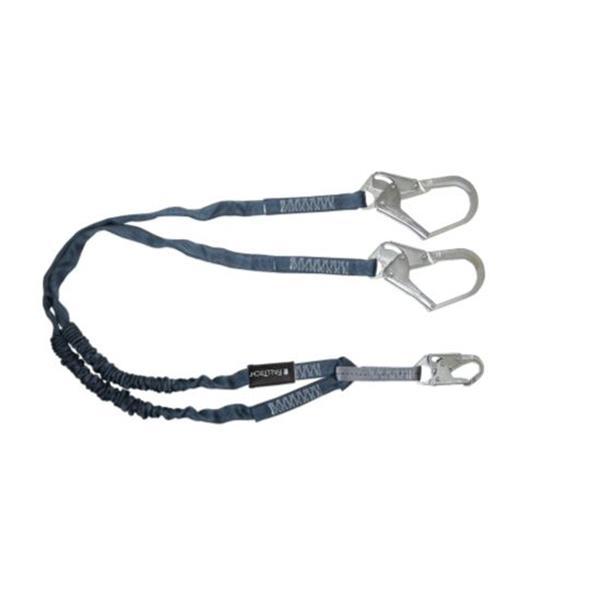 Falltech 6' Lanyard, Twin Leg, #18 Rebar Hooks