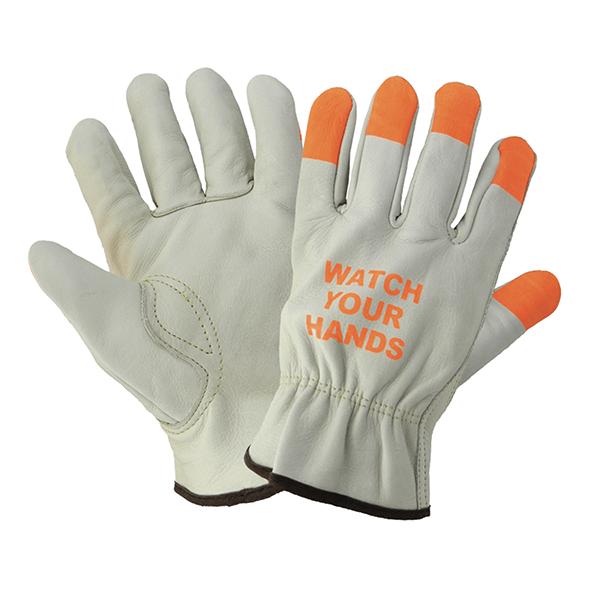 Gloves Driver Hi Viz Fingers L