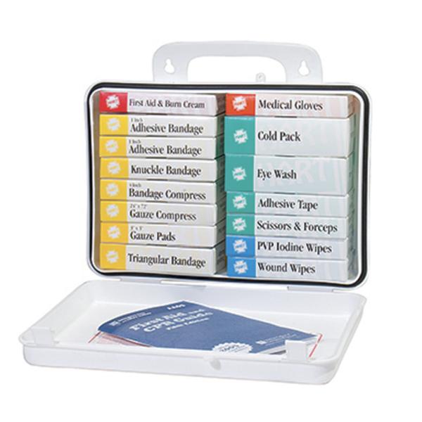 First Aid Kit, 25 Man, Plastic Case