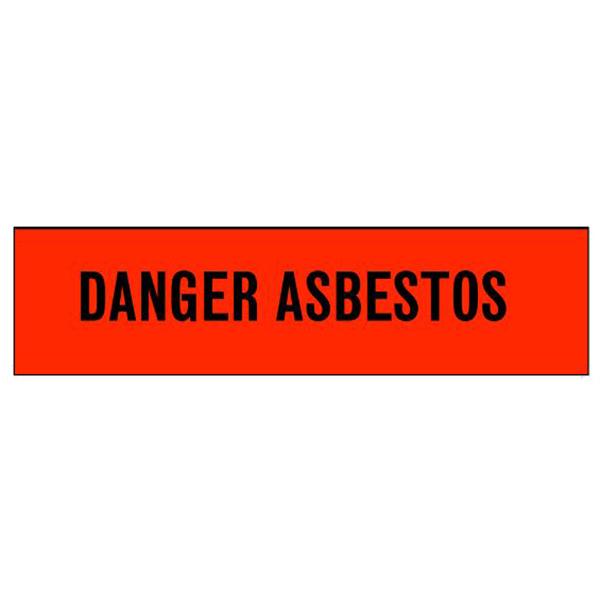 "Danger Tape, ""Asbestos"", 3"" x 1000', Red"