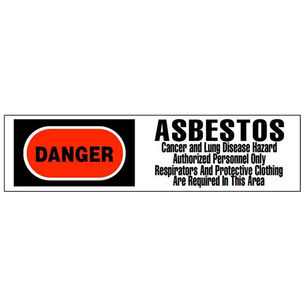 """""""Danger Asbestos"""" Tape, 3"""" x 1000', 3-color"""